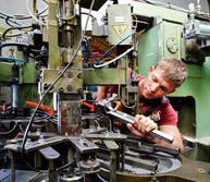 maintenance work on a die cutter